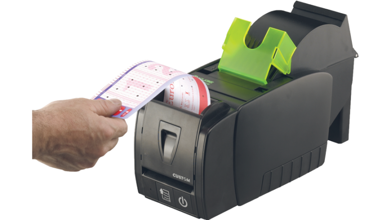 Custom KUBE II Thermal printer Lottery ticket scanner