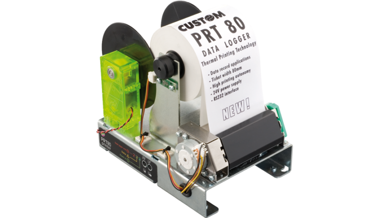Custom PRT80 Thermal Kiosk printer re winder journal data logger