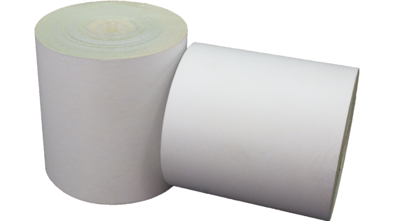 3 in x 3 in bond impact paper 2 ply white yellow