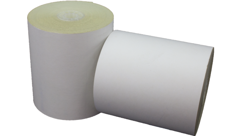 3.25 in x 3 in bond impact paper 2 ply white yellow