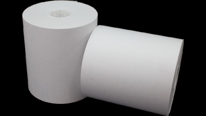 3.25 in x 3 in bond impact paper single ply white