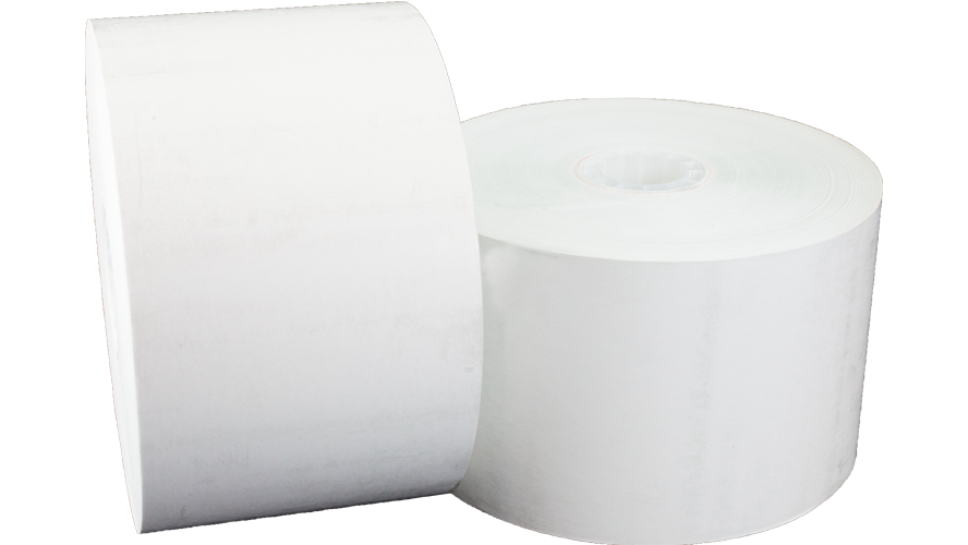 "t12516400 60mm 400' hecon c56 carwash 11/16"" thermal paper roll"