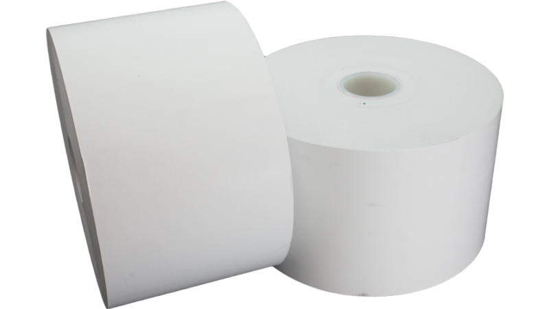 """tp80-5-354 thermal paper roll 80mm 5"""" 5in 20lb"""