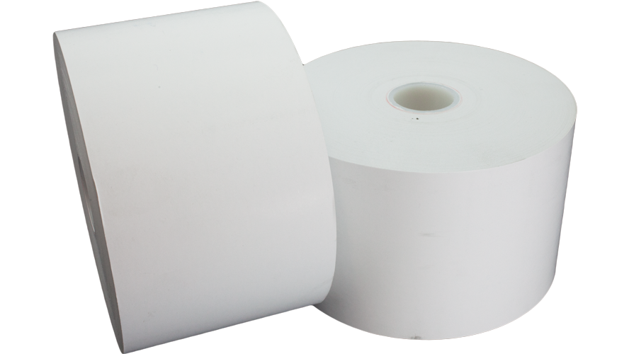 "tp80-5-354 thermal paper roll 80mm 5"" 5in 20lb"