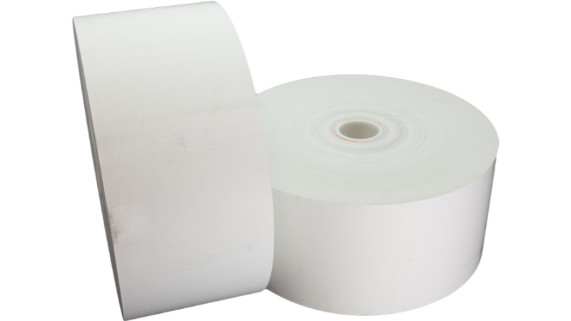 "tp80-7-354 thermal paper roll 7in 7"" 20lb"