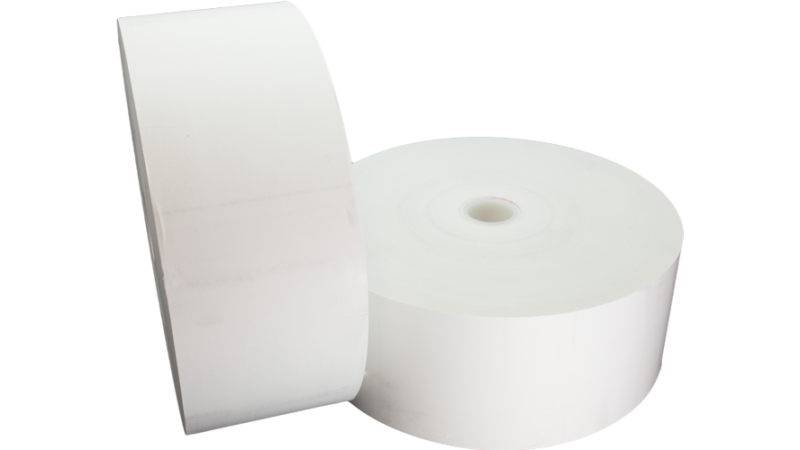 "tp80-8-354 thermal paper roll 80mm 8in 8"" 20lb"